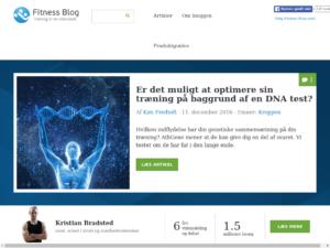 Fitness Blog Screenshot